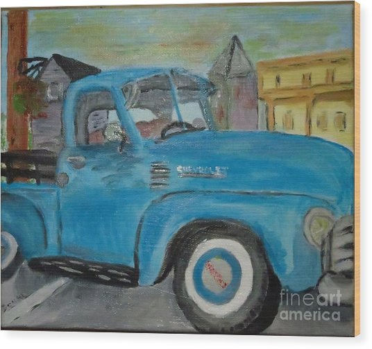 50 Chevy In Tannersville Wood Print