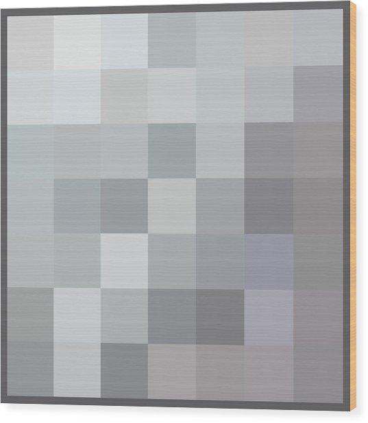 50 Shades Of Grey Wood Print