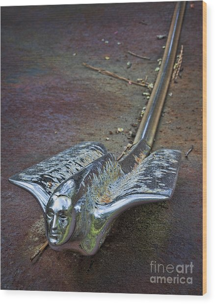 50s Cadillac Hood Ornament #2 Wood Print