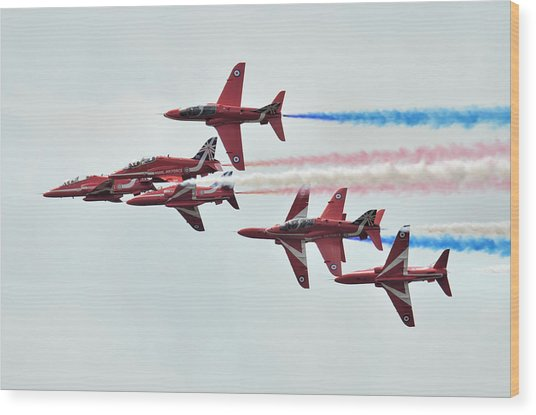 50th Anniversary 'red Arrows' Wood Print