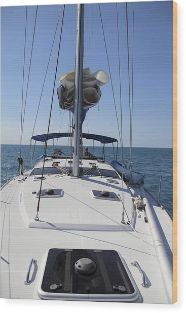 Wood Print featuring the photograph 51 Footer  by Debbie Cundy