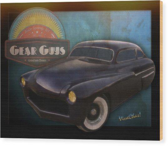 51 Mercury Gear Guys Car Club Alice Springs Nt Wood Print