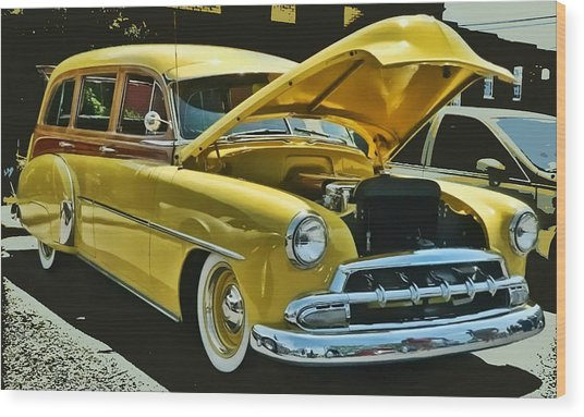 '52 Chevy Wagon Wood Print