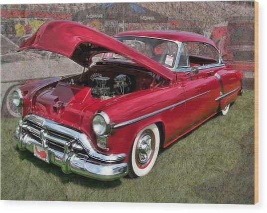 '52 Oldsmobile Wood Print