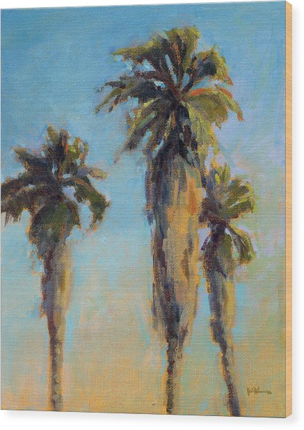 Wood Print featuring the painting Pacific Breeze by Konnie Kim
