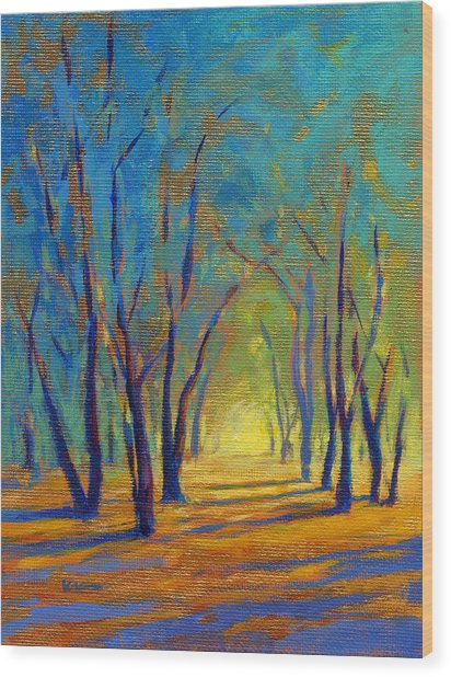Wood Print featuring the painting Colors Of Spring by Konnie Kim