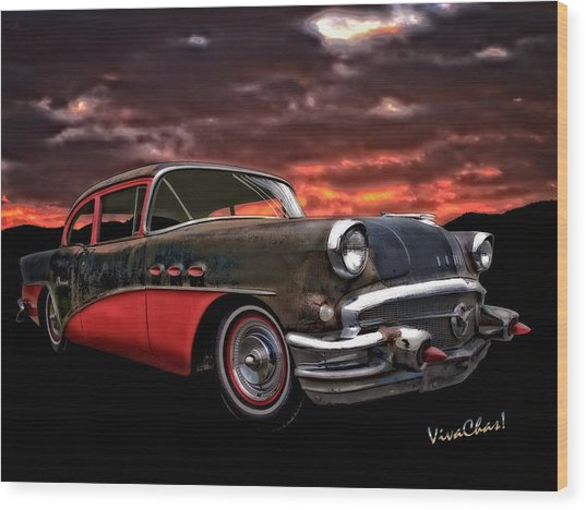 53 Buick Special Two Door Wood Print