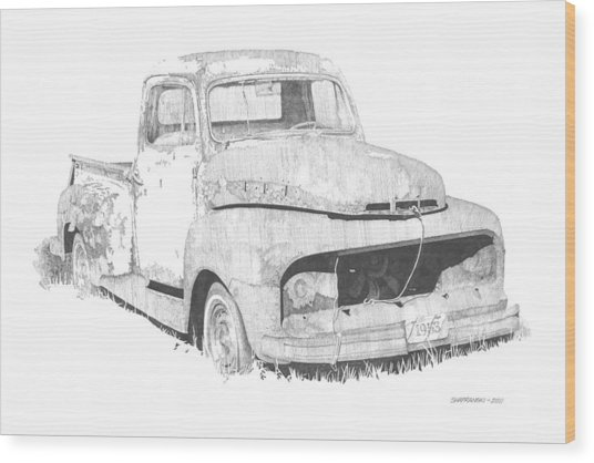 '53 Ford Wood Print by Paul Shafranski