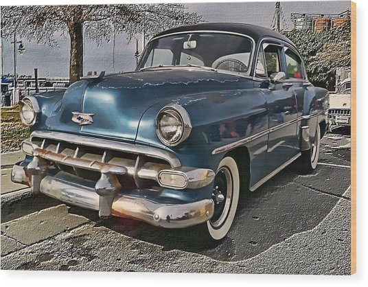 '54 Chevy Wood Print