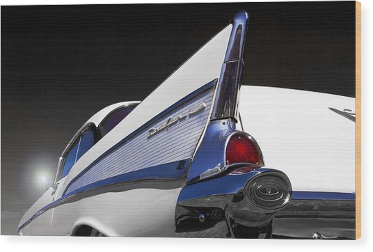 57 Chev Bel Aire Wood Print