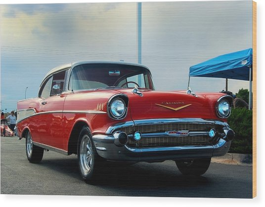 57 Chevy Bel-aire Wood Print by Don Durante Jr