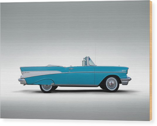 57 Chevy Convertible Wood Print