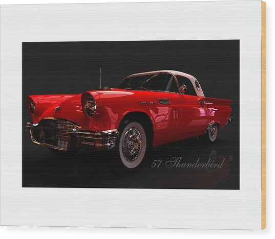 57 Thunderbird Wood Print