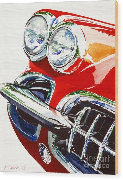 58 Corvette Wood Print by Rick Mock