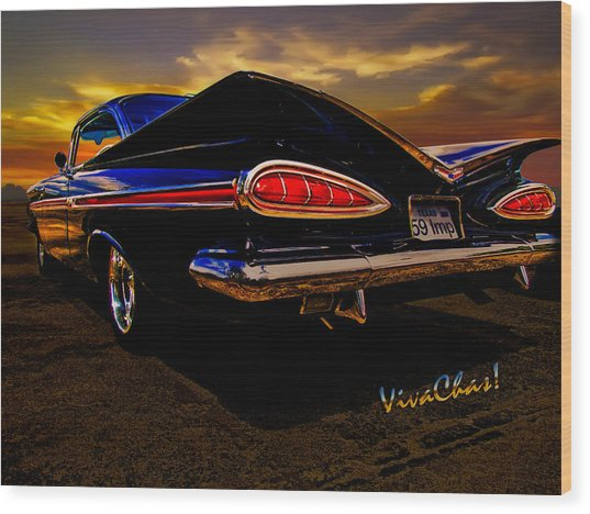 59 Chevy Impala Hardtop Wood Print