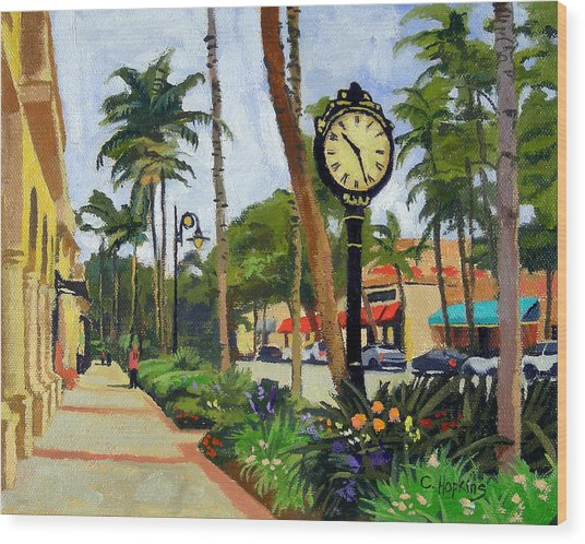 5th Avenue Naples Florida Wood Print