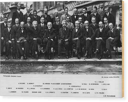 5th Solvay Conference Of 1927 Wood Print