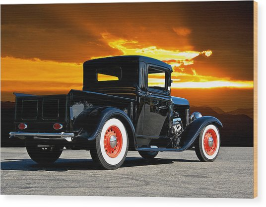 1932 Ford Pick Up Wood Print by Dave Koontz