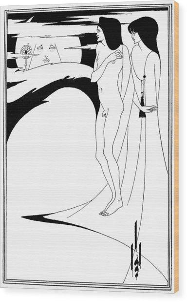 Beardsley Salome Wood Print