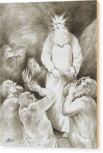 Biblical Illustration Wood Print by Alex Tavshunsky