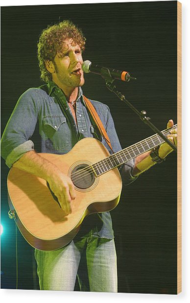 Billy Currington Wood Print by Don Olea