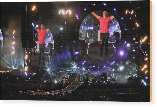 Coldplay - Sydney 2012 Wood Print