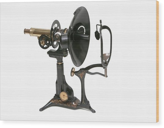 Early 20th Century Ophthalmoscopy Tool Wood Print by Mark Thomas/science Photo Library
