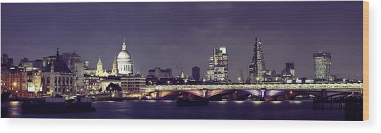 London Night Wood Print