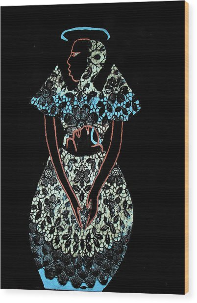 Madonna And Child Wood Print