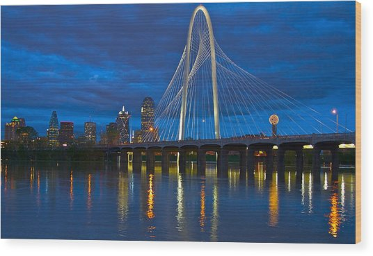 Margaret Hunt Hill Bridge Wood Print
