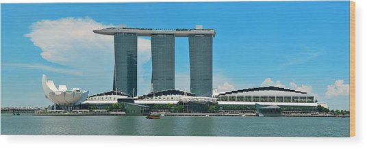 Marina Bay Sands Wood Print