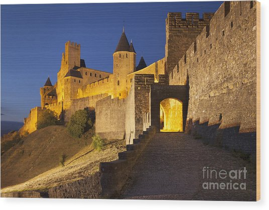 Wood Print featuring the photograph Medieval Carcassonne by Brian Jannsen