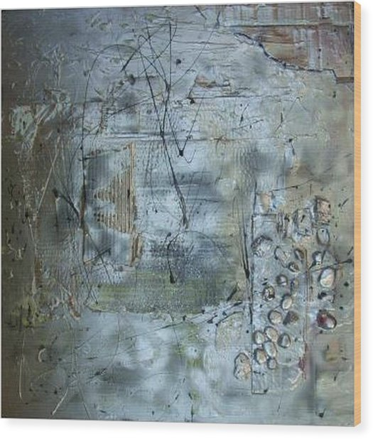 .........mixed Media........ Wood Print by Wiola Anyz