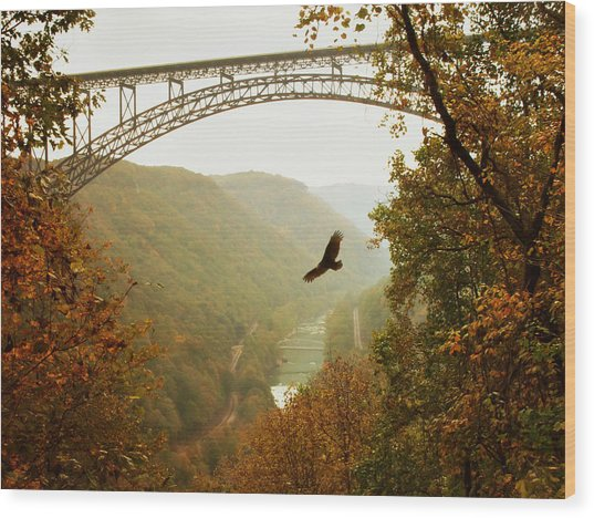 New River Gorge Bridge Wood Print