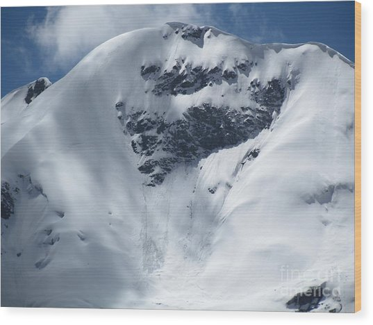 Peru Mountain Snow Wood Print