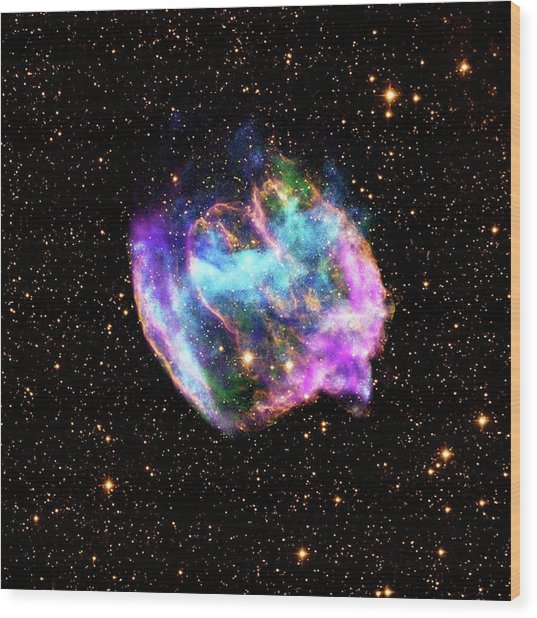 Supernova Remnant Wood Print