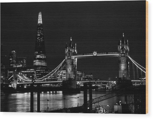The Shard And Tower Bridge Wood Print