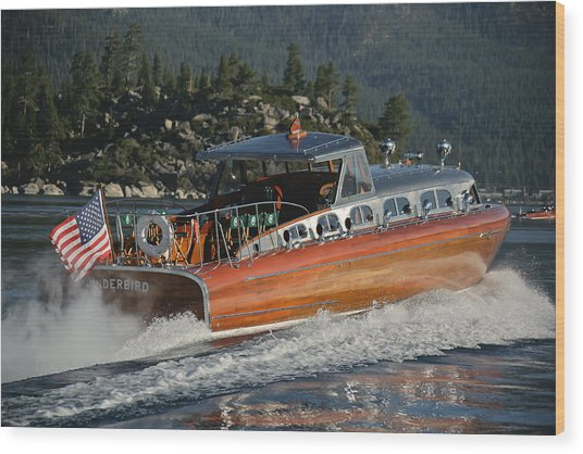 Thunderbird Lake Tahoe Wood Print by Steven Lapkin