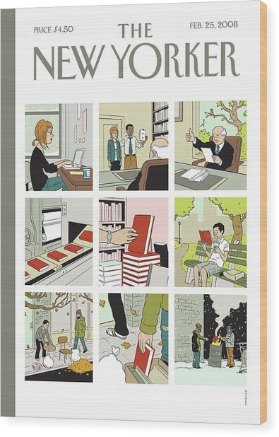 New Yorker February 25th, 2008 Wood Print