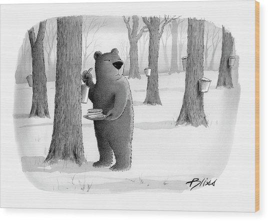 New Yorker April 2nd, 2007 Wood Print