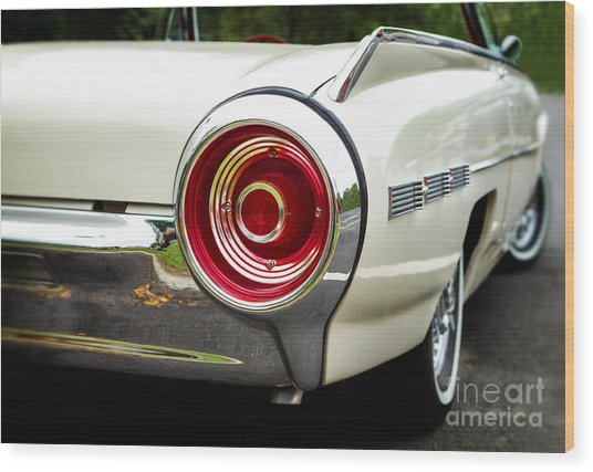 62 Thunderbird Tail Light Wood Print