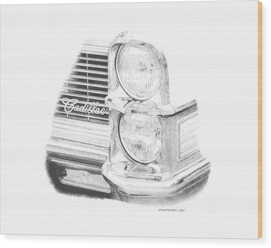 65 Caddy Wood Print by Paul Shafranski