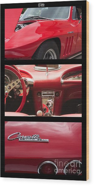 65 Vette Poster Wood Print by Steven Parker