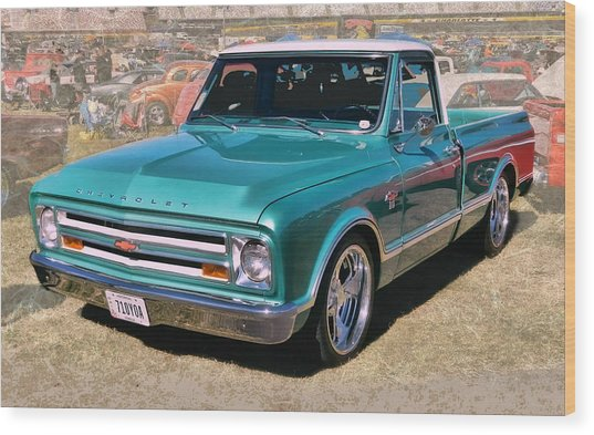 '67 Chevy Truck Wood Print