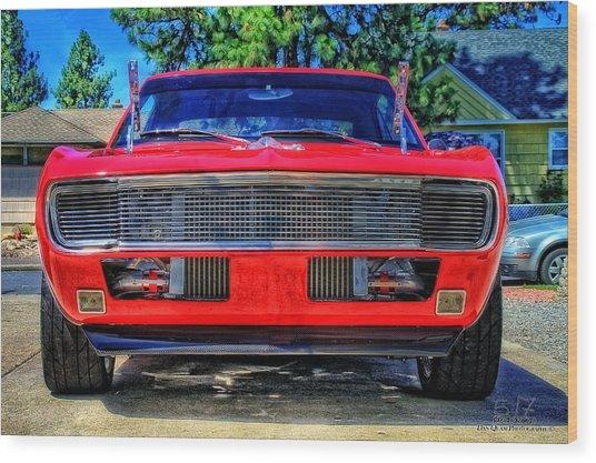 '67 Modified Camaro Wood Print by Dan Quam