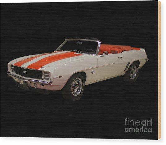 69 Chevy Camaro Ss Wood Print