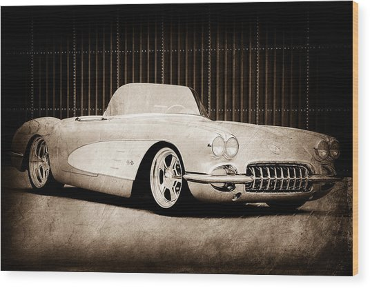 Wood Print featuring the photograph 1960 Chevrolet Corvette by Jill Reger