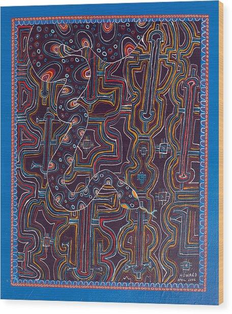 Ayahuasca Vision Wood Print