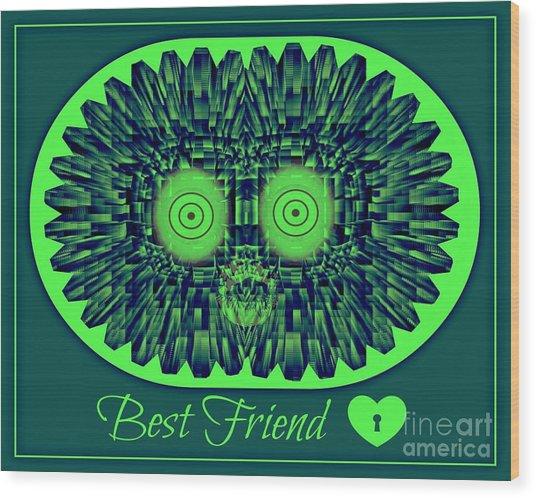 Best Friends Wood Print by Meiers Daniel