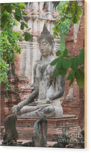 Buddha Statue Wood Print